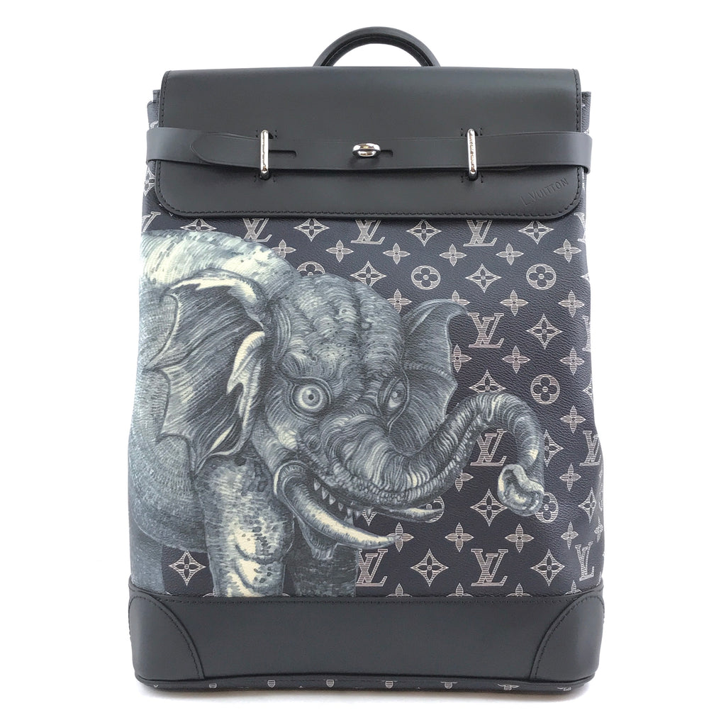 Louis Vuitton Steamer Savanna Elephant Eclipse Monogram Canvas