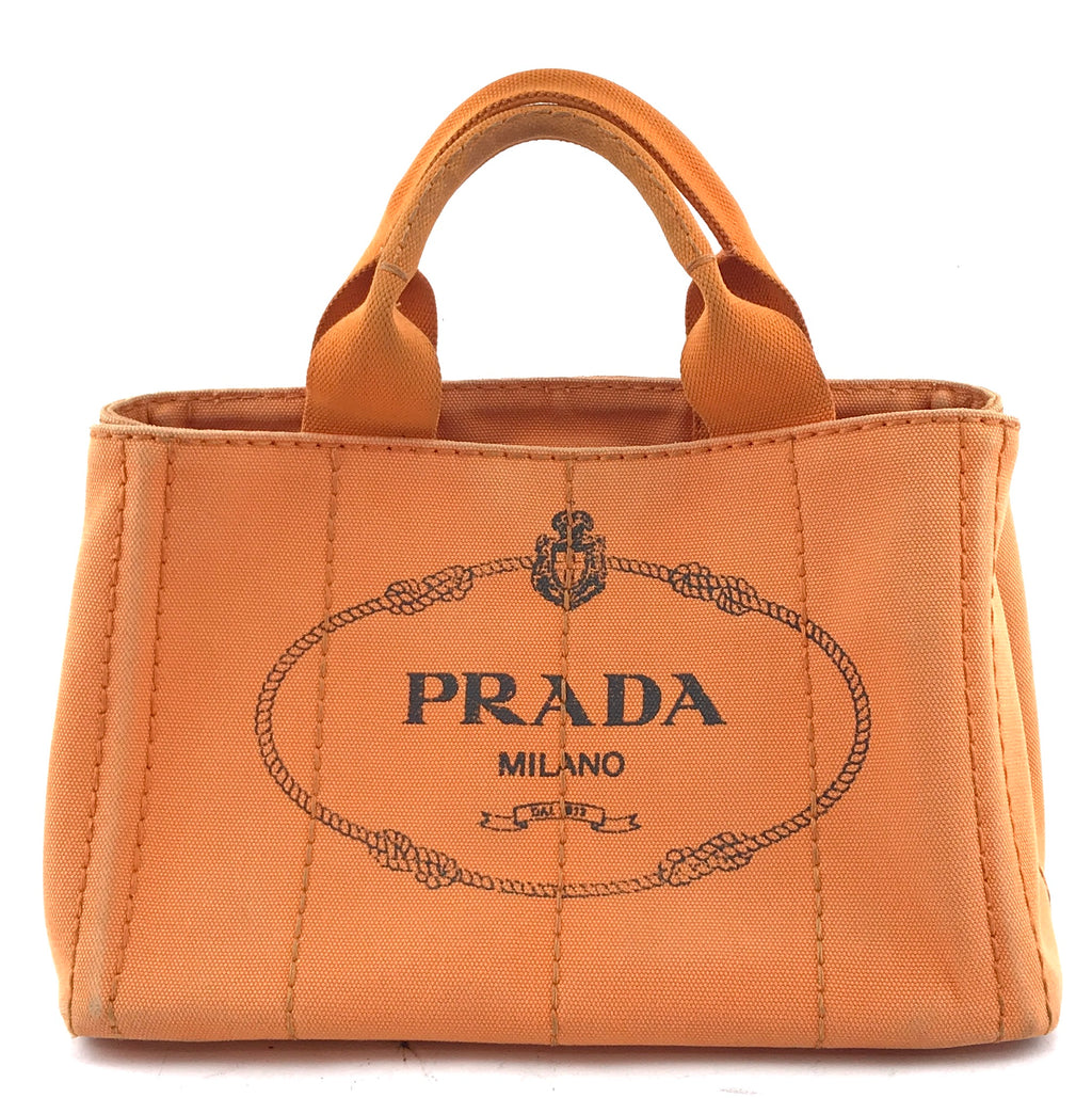 Prada Canapa Tote Orange Denim