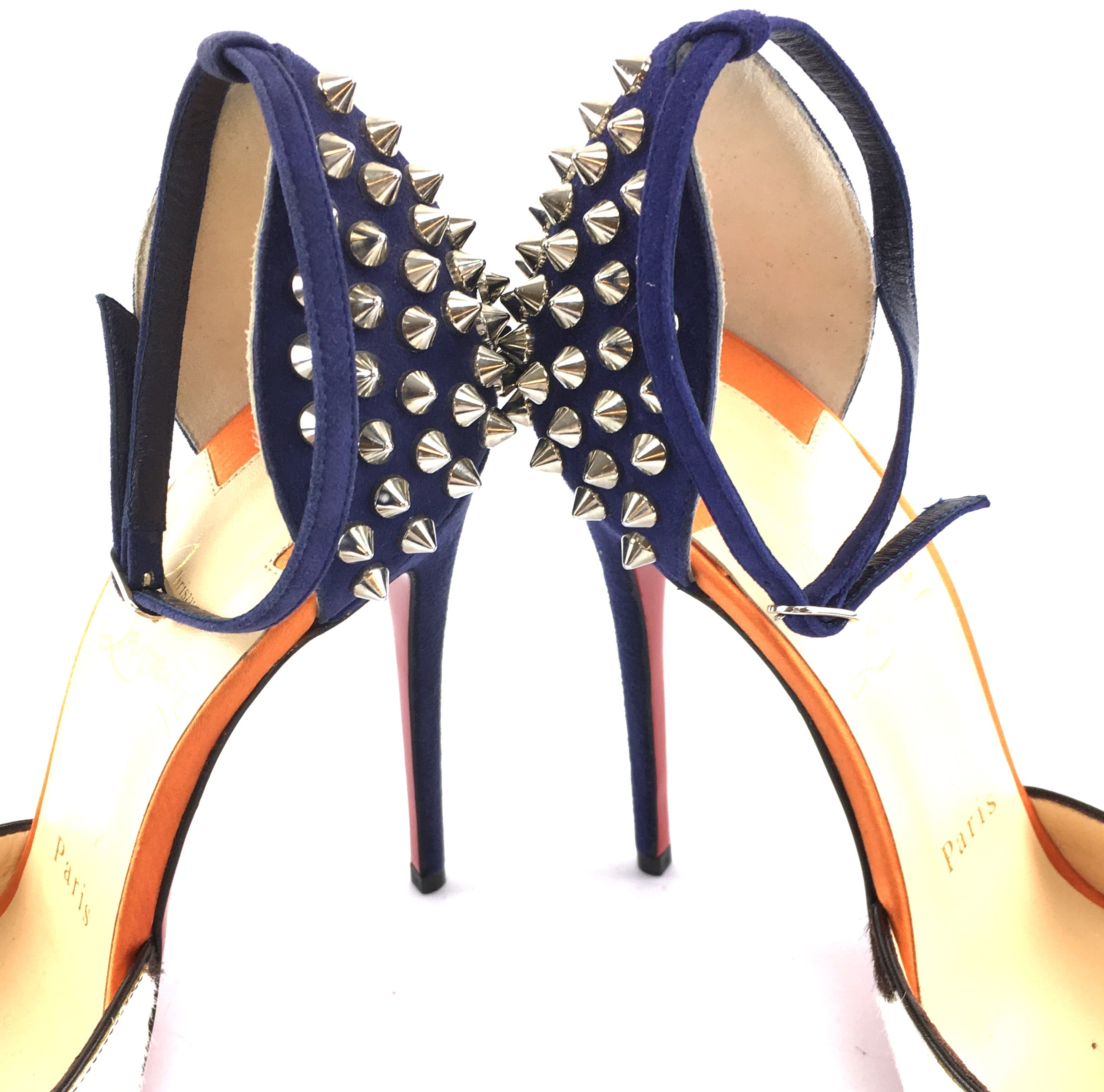 Christian Louboutin Multicolor Pina Spike Peep 120 Pony Pumps