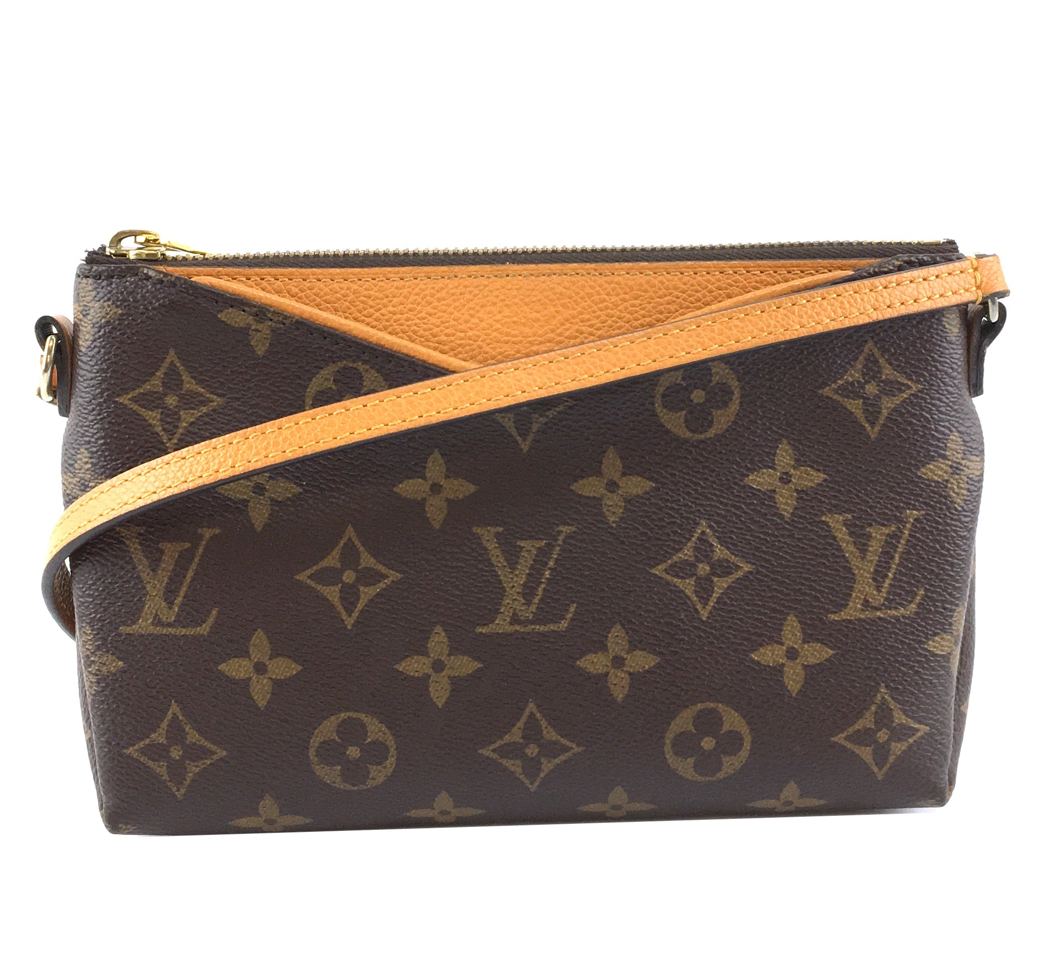 Louis Vuitton Pallas Clutch Monogram Canvas and Calfskin