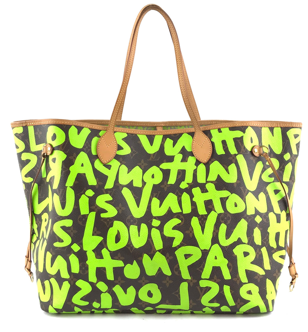 Louis Vuitton Neverfull GM Monogram Graffiti Green Canvas