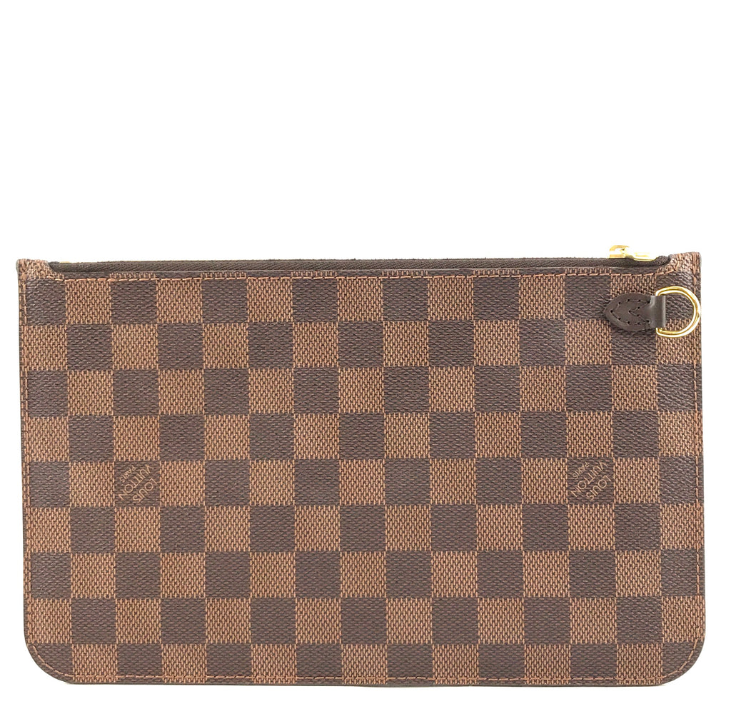 Louis Vuitton Neverfull Pochette Damier Ébène Canvas