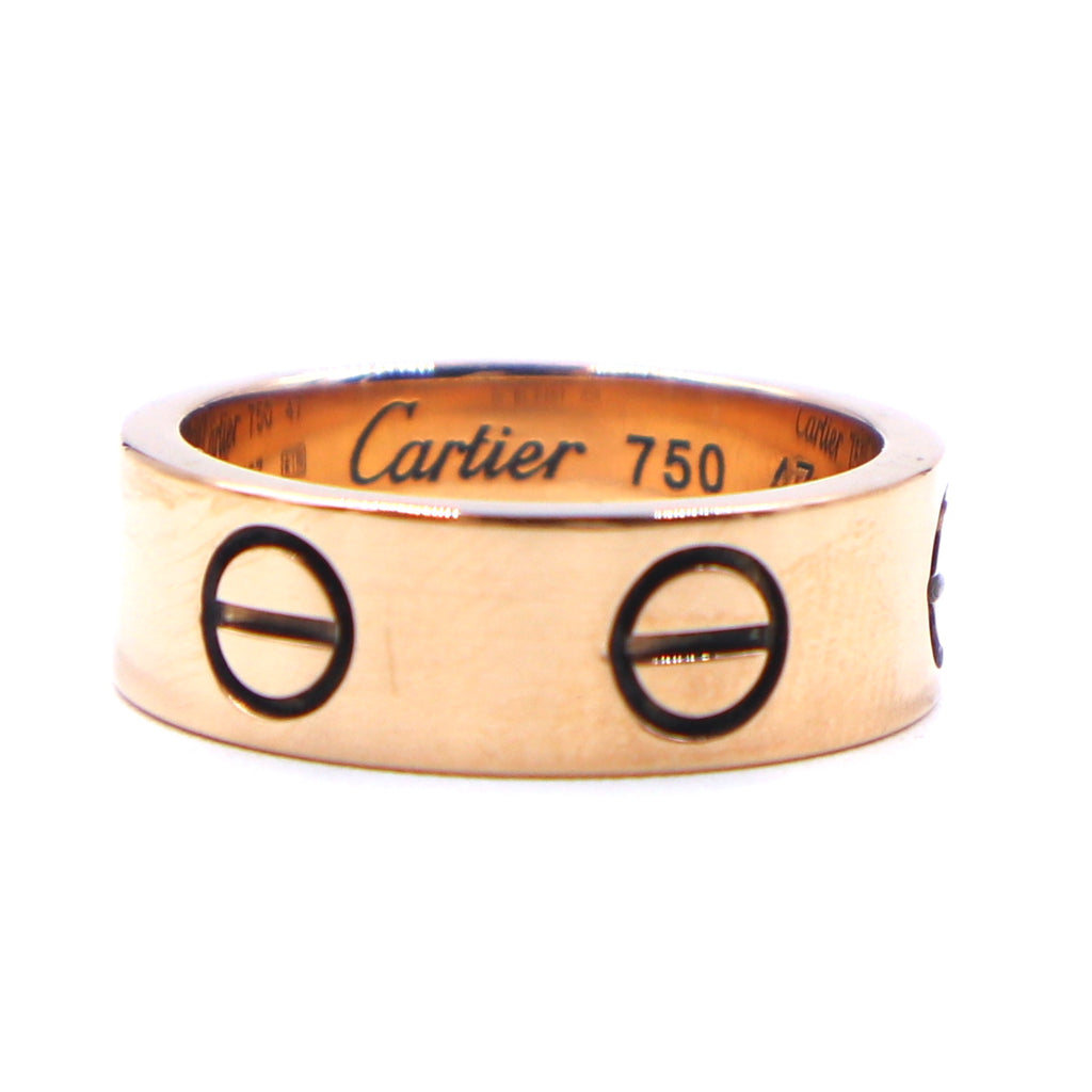 Cartier 18k Rose Gold Love Wedding Ring Size 47