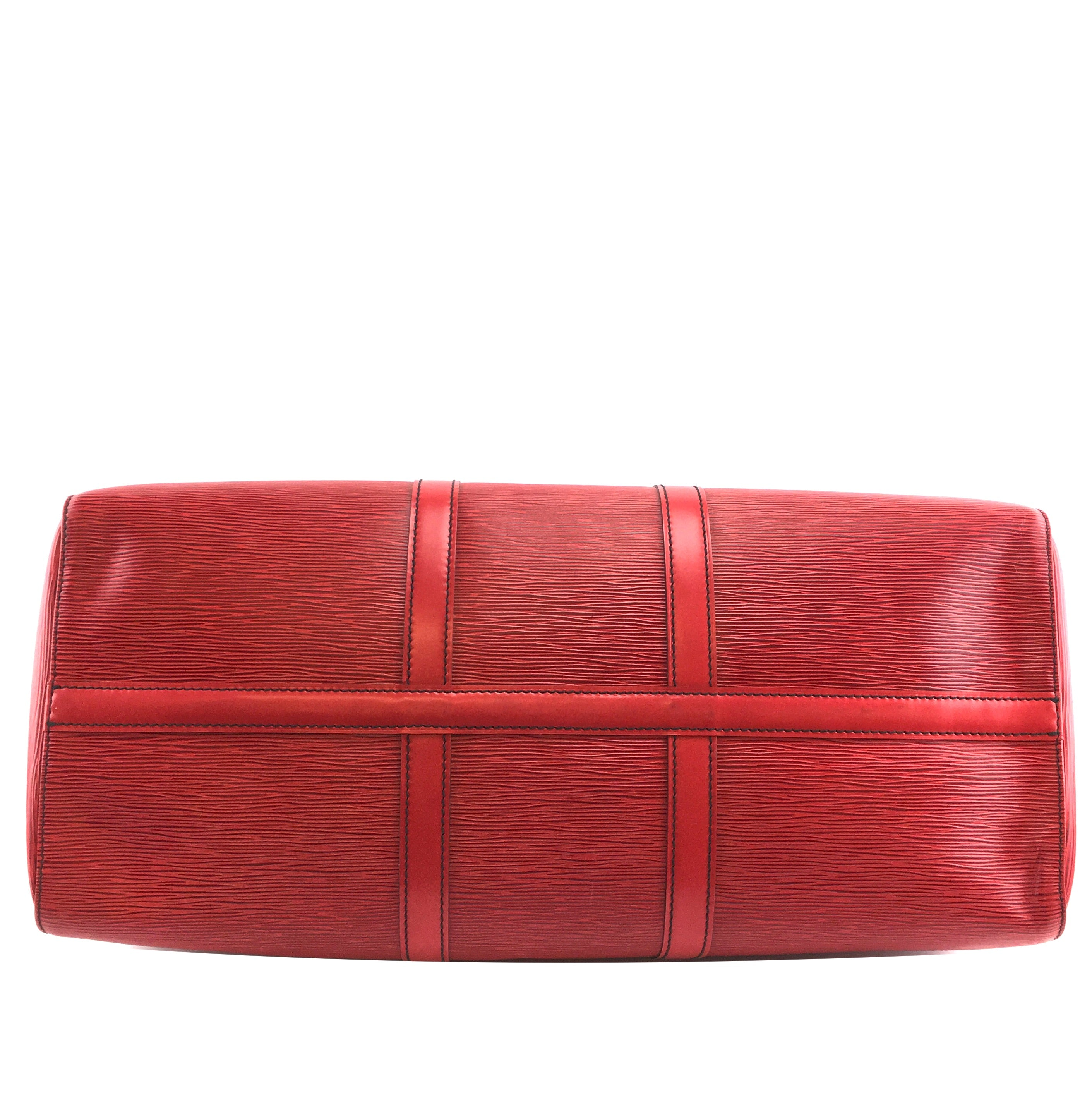 Louis Vuitton Keepall 50 Red Epi Leather