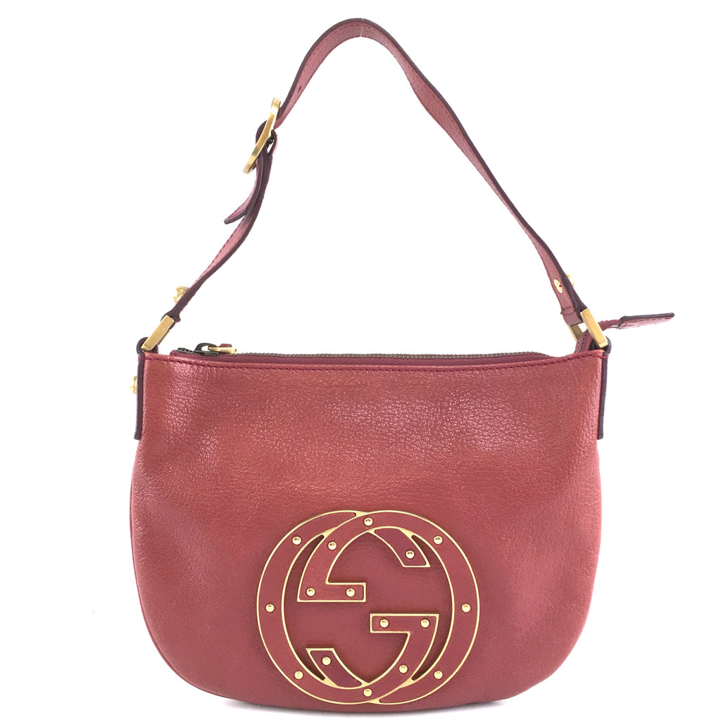 Gucci Blondie Hobo Small GG Red Leather