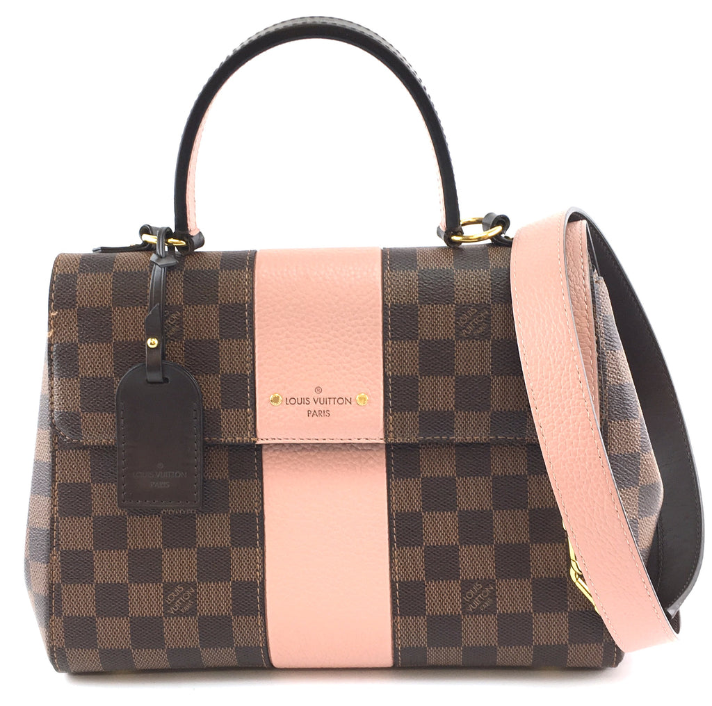 Louis Vuitton Bond Street Damier Ébène Canvas and Pink Calf Leather