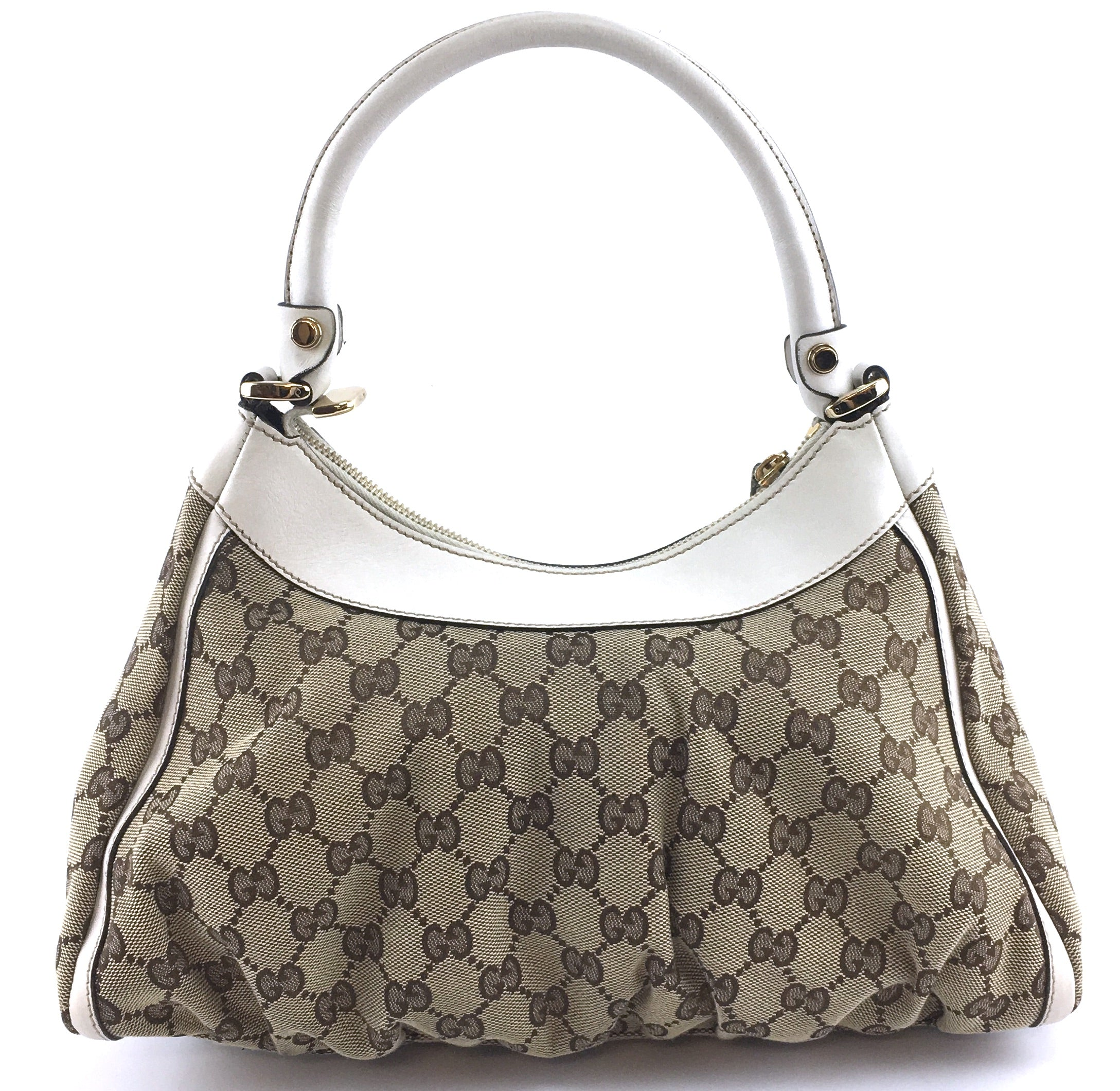 Gucci Guccissima GG Logo Beige Canvas and Leather