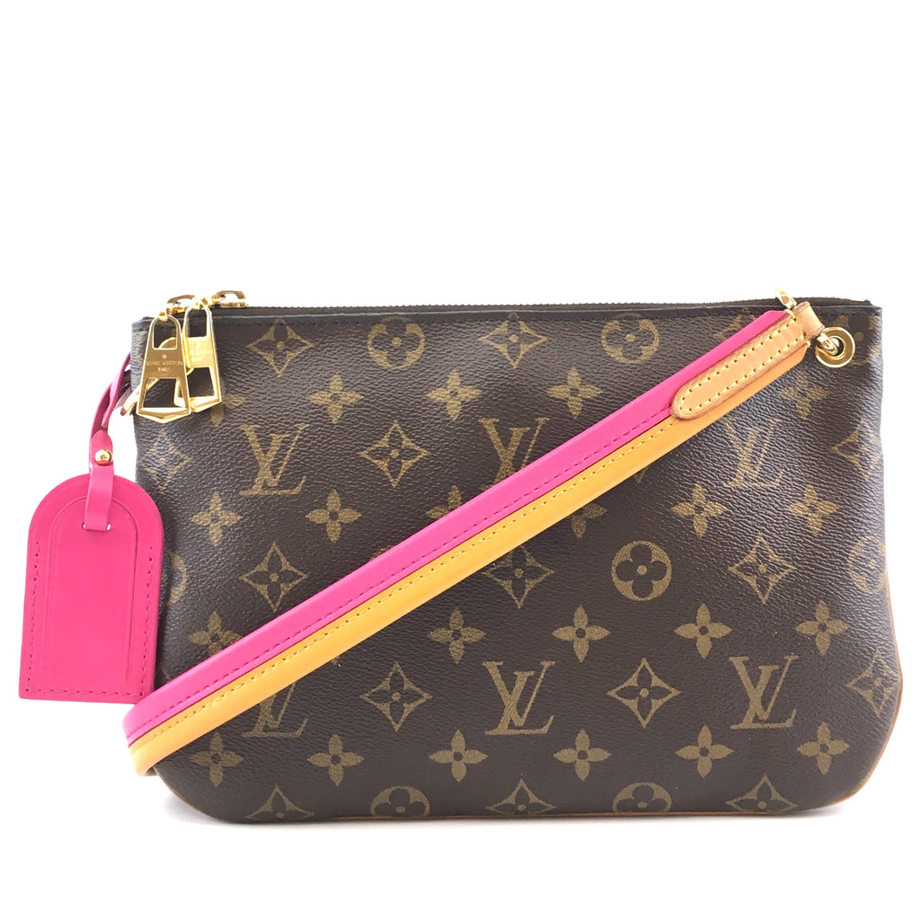 Louis Vuitton Lorette Cross Body Bag Pink Monogram Canvas