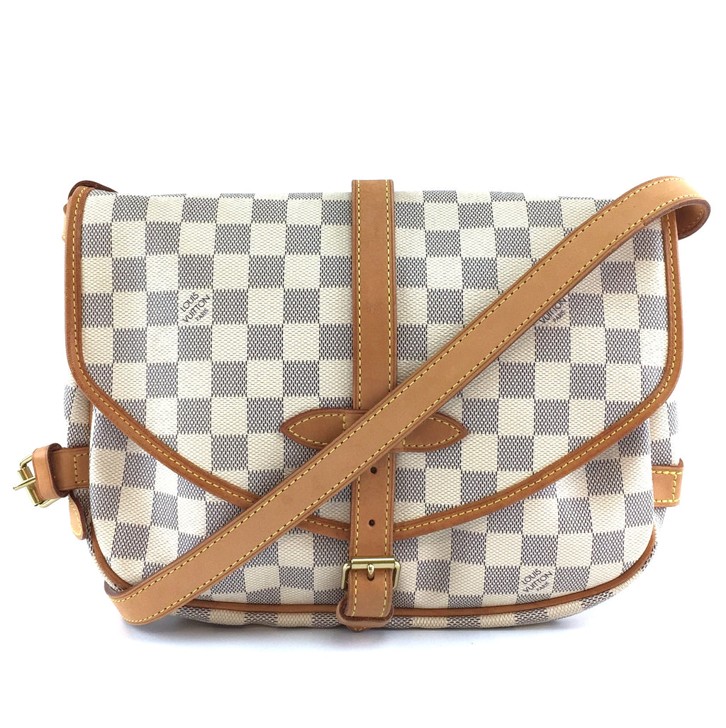 Louis Vuitton Saumur 30 Damier Azur Canvas