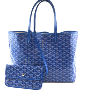 Goyard Saint Louis with Pochette PM Blue Canvas and Leather