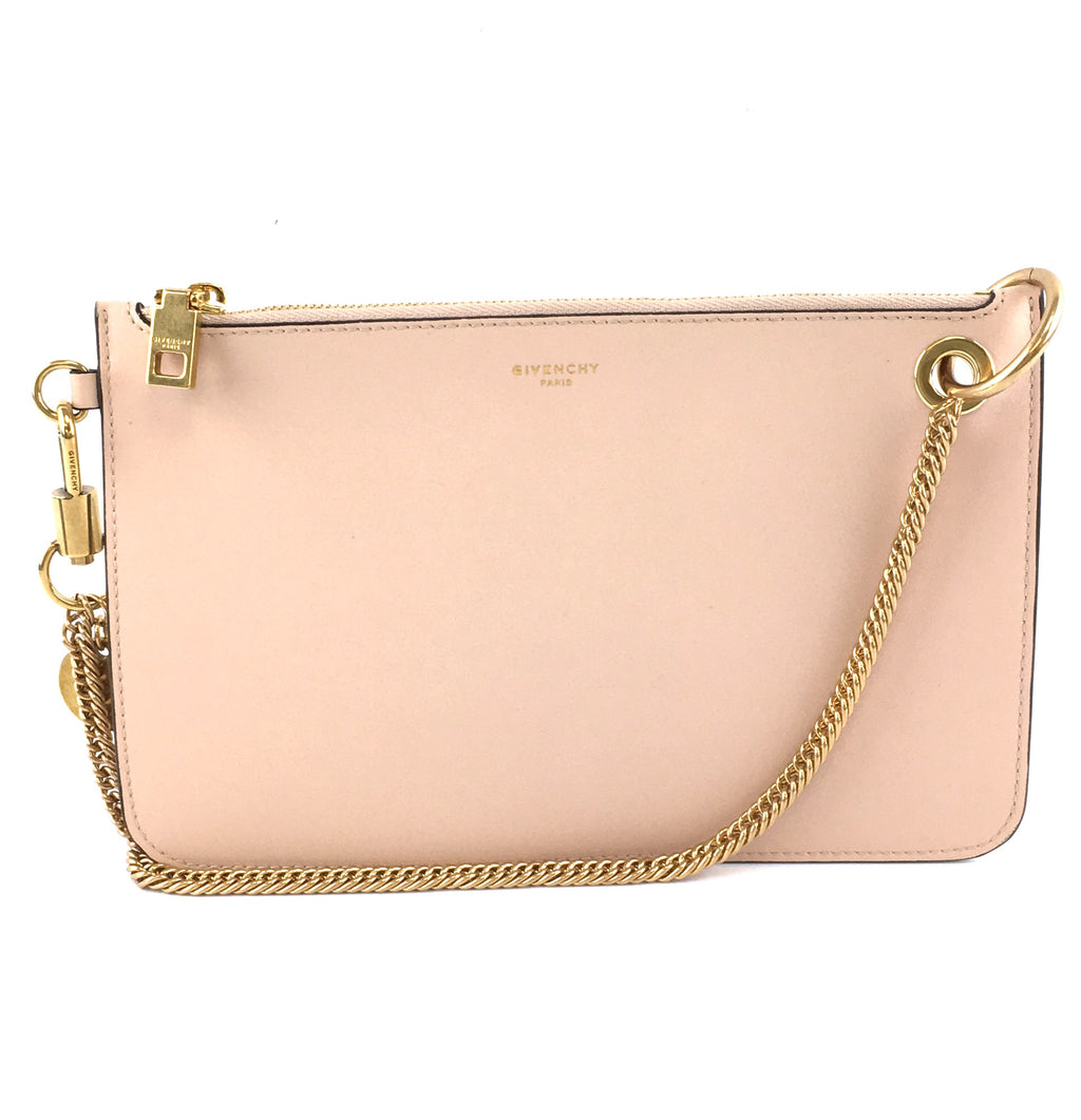 Givenchy Chain Bag Shopper Pouch Gold Nude Leather