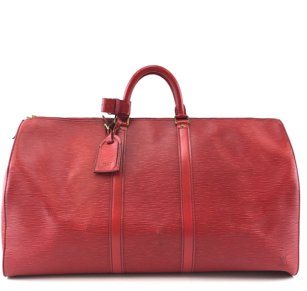 Louis Vuitton Keepall 55 Monogram Red Epi Leather