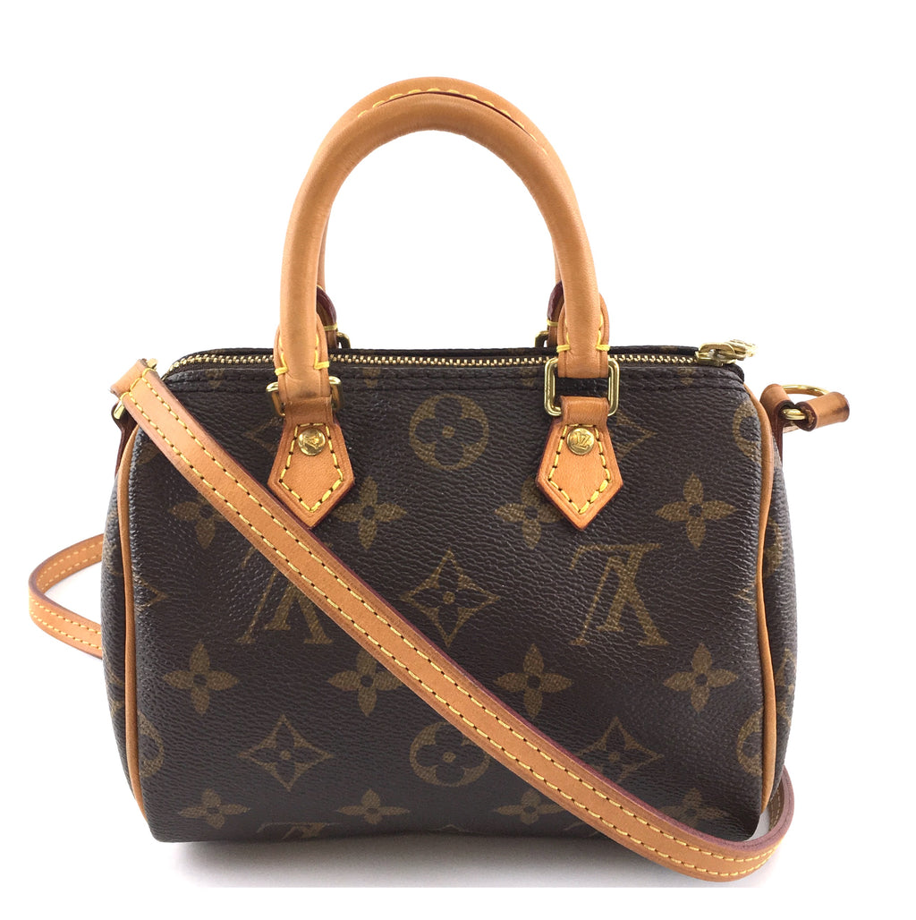 Louis Vuitton Nano Speedy Bandoulière Monogram Canvas