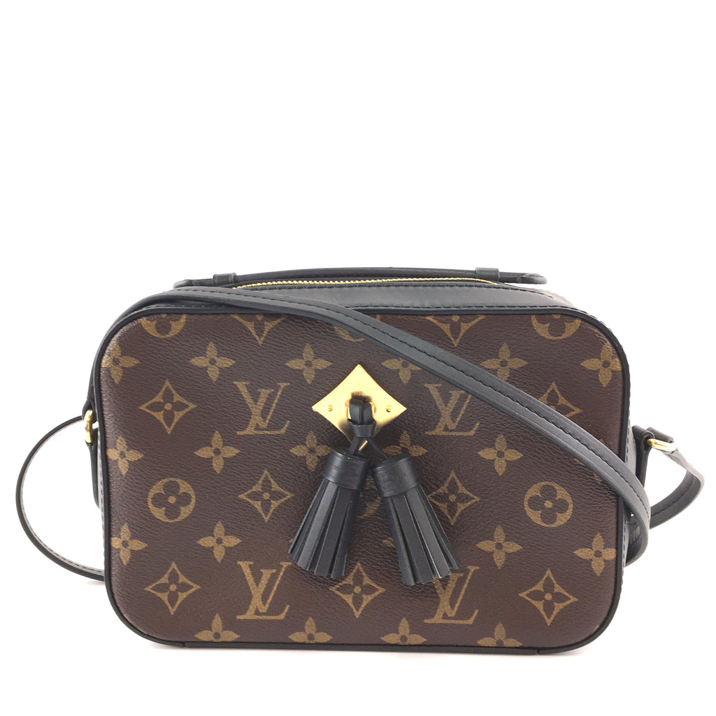 Louis Vuitton Saintonge Monogram Canvas Black Calfskin