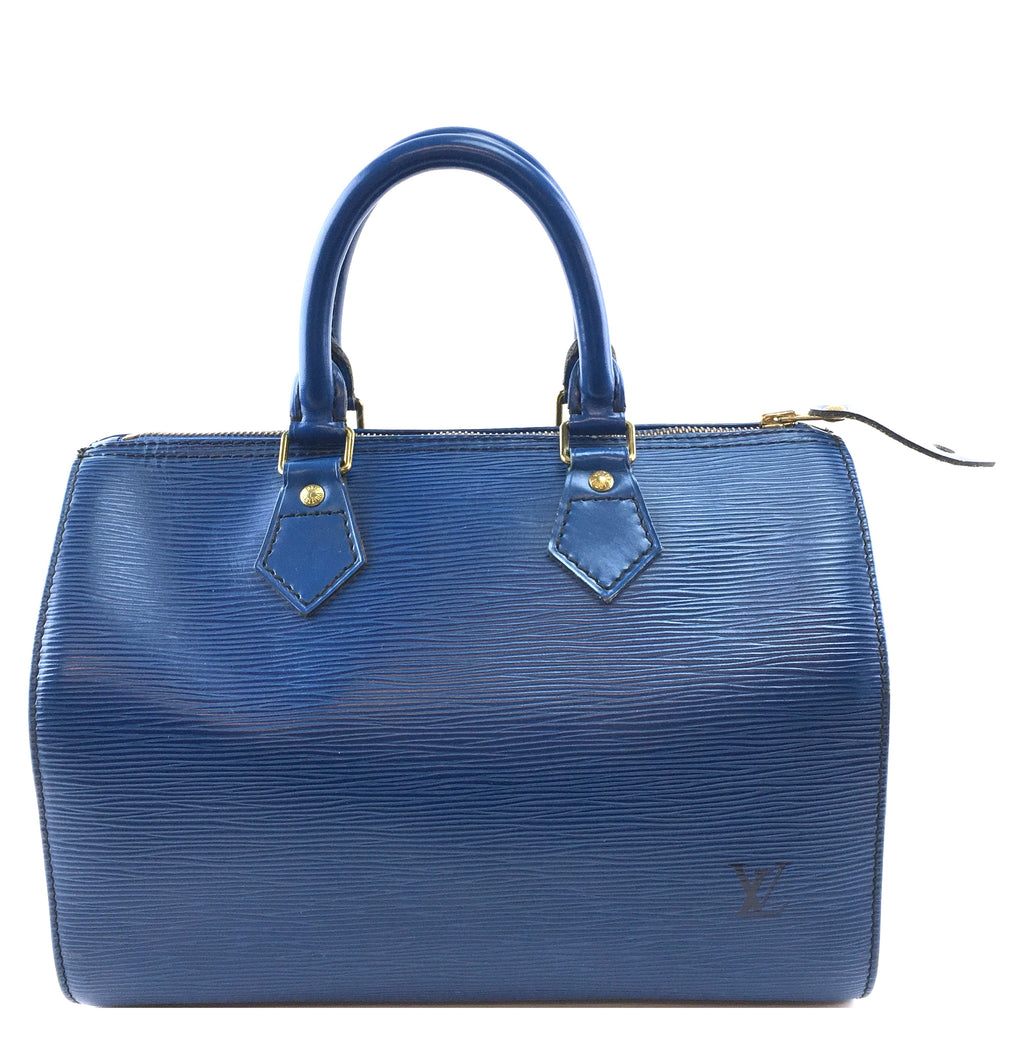 Louis Vuitton Speedy 25 Blue Epi Leather