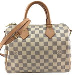 Louis Vuitton Speedy 25 Bandouliere Damier Azur Canvas