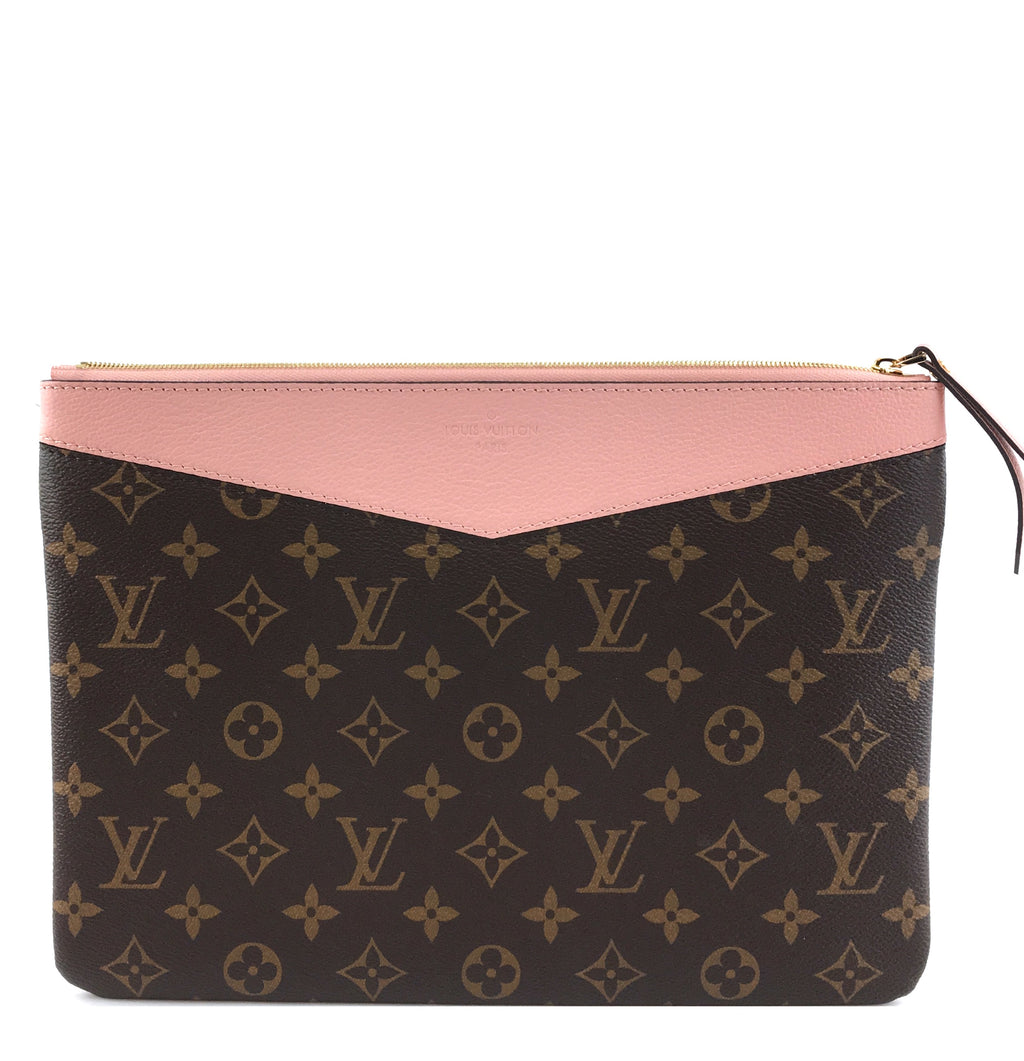 Louis Vuitton Daily Pouch Monogram Canvas Pink Calfskin