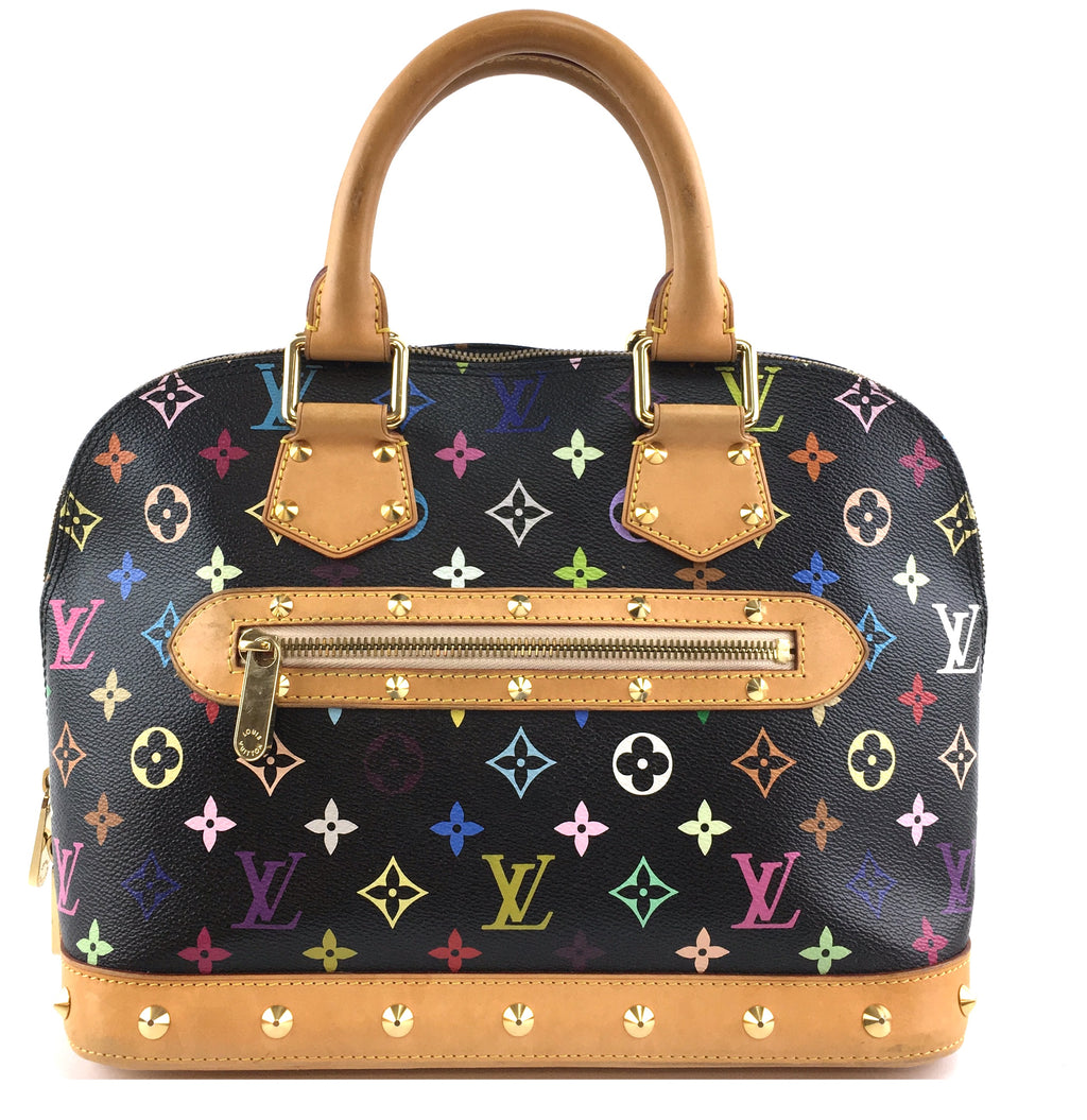 Louis Vuitton Alma with Studs Multicolore Monogram Canvas