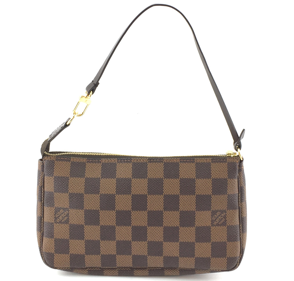 Louis Vuitton Accessory Pochette Damier Ebene Canvas