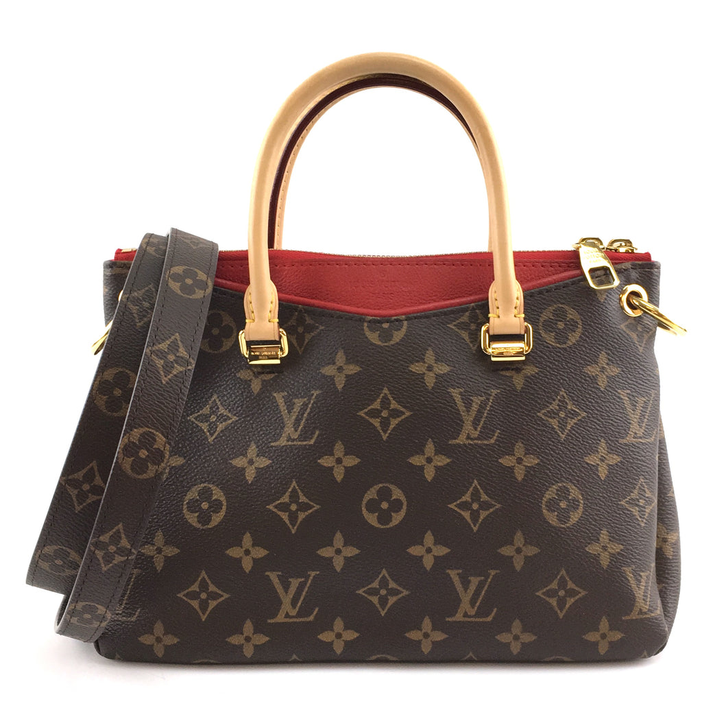 Louis Vuitton Pallas BB Monogram Canvas Red Calfskin