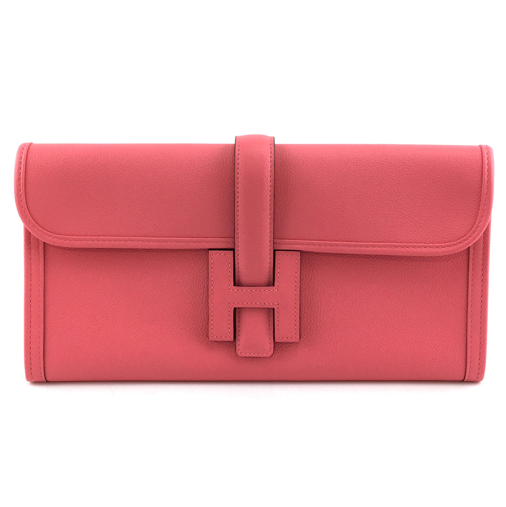 Hermès Jige Elan 29 Clutch Pink Azalee Swift Leather