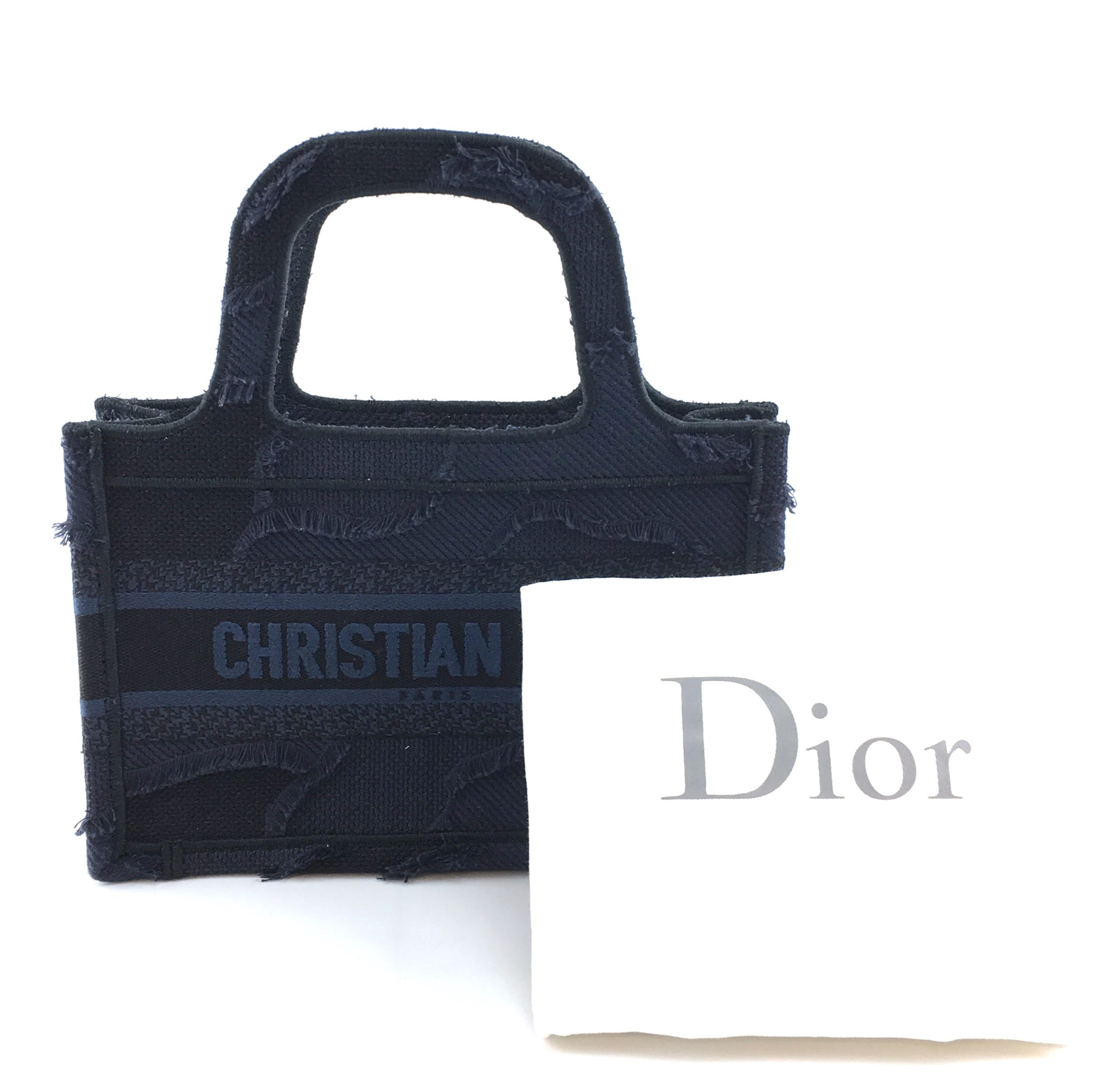 Dior Book Tote Oblique Mini Wave Blue Denim