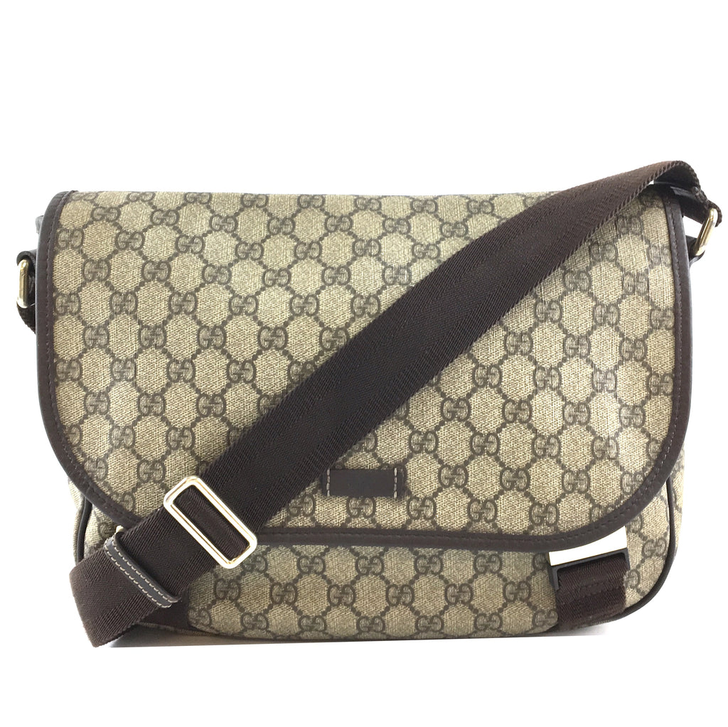 Gucci Supreme GG Guccissima Flap Canvas and Leather