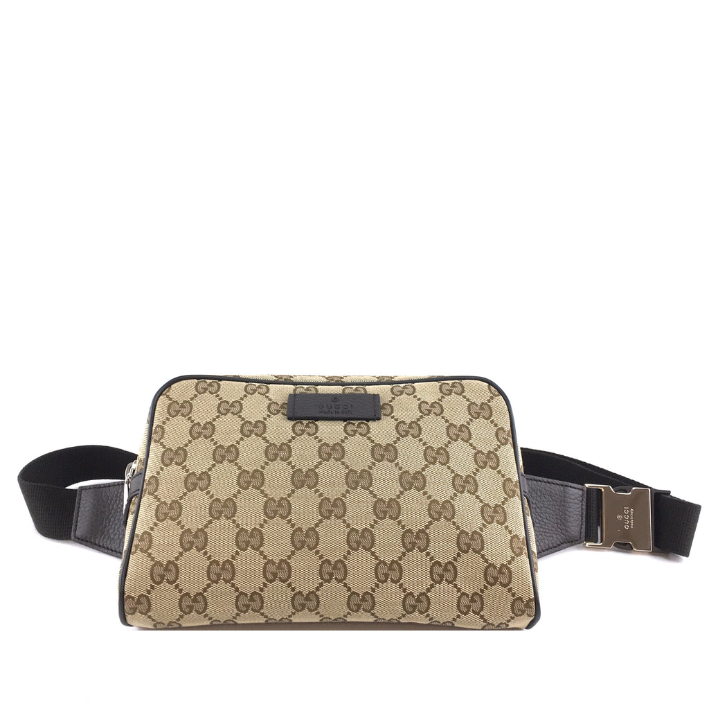 Gucci Belt Bum bag GG Guccissima Brown Canvas