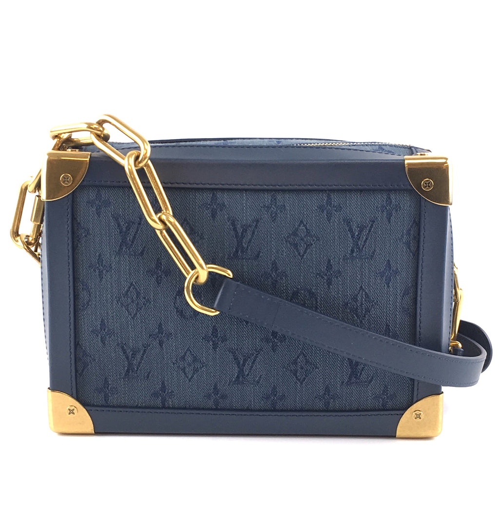 Louis Vuitton Soft Trunk Monogram Navy Denim Fabric