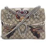 Gucci Dionysus Canvas Bees Double Chain Multicolor Python