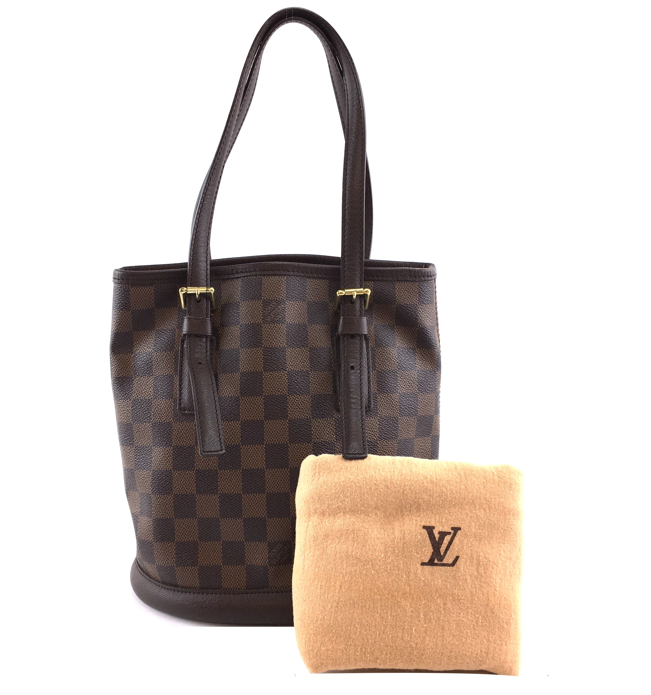 Louis Vuitton Marais Bucket PM Damier Ébène Canvas