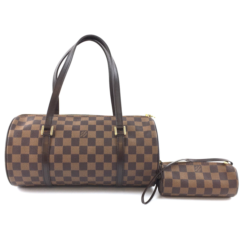 Louis Vuitton Papillon with Mini Pochette 30 Damier Ébène Canvas
