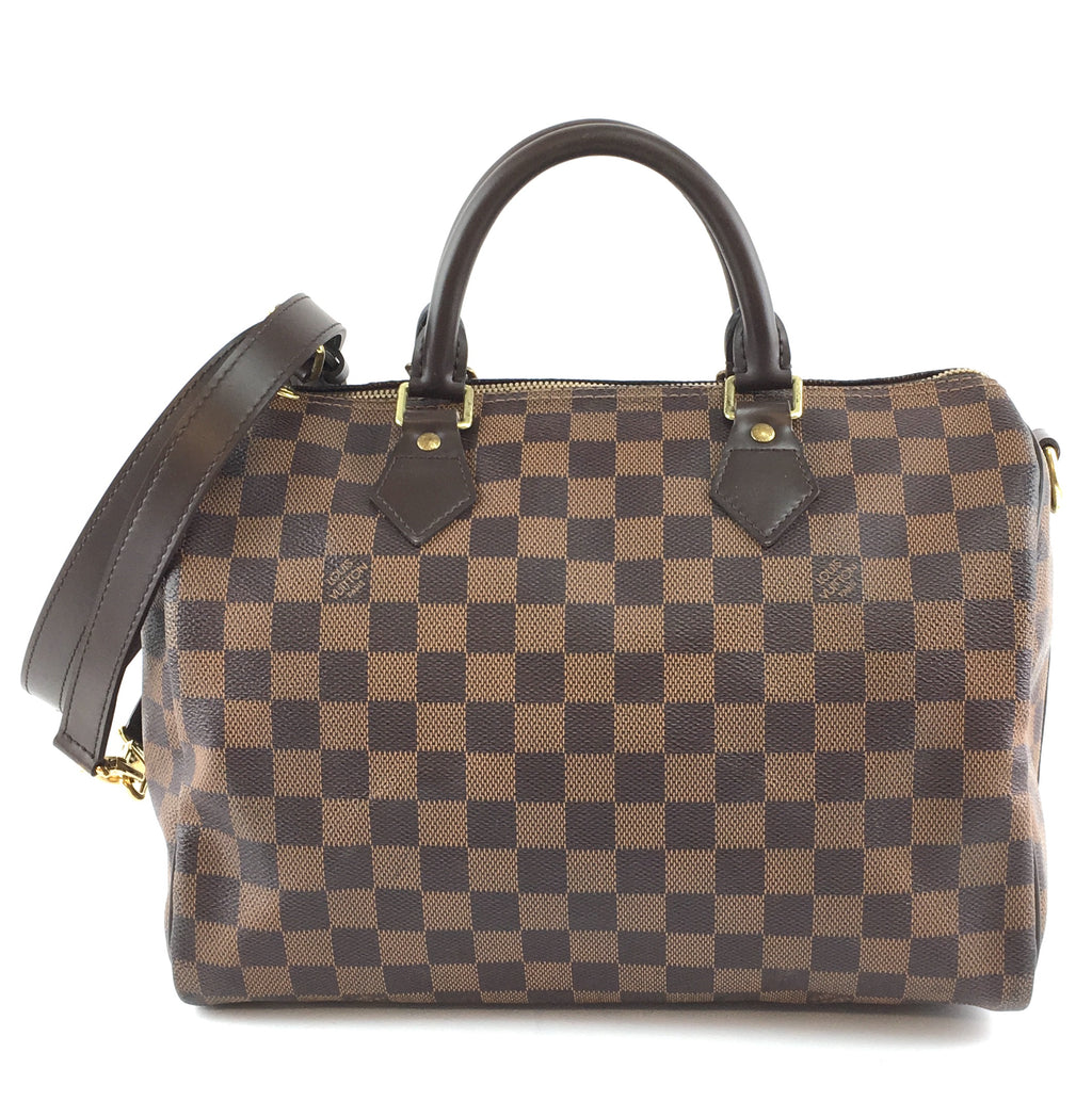 Louis Vuitton Speedy Bandouliere 30 Damier Ébène Canvas