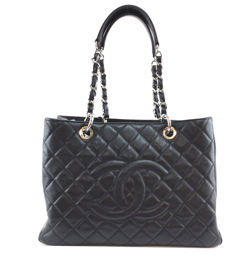 Chanel Grand Shopping Tote Shopper CC Black Caviar Leather