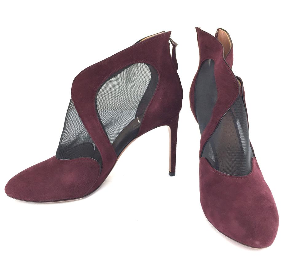 ALAÏA Burgundy Suede Pumps