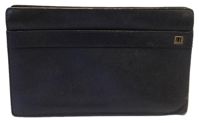 Alfred Dunhill Vintage Clutch Black Leather
