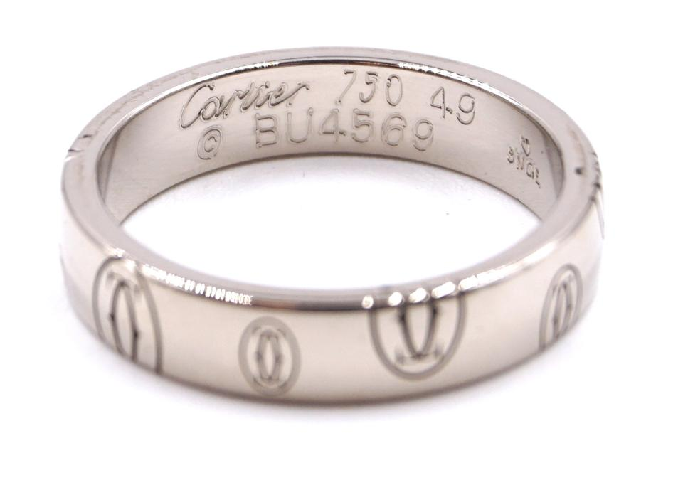 Cartier White Gold 18k 750 Happy Birthday Band Ring