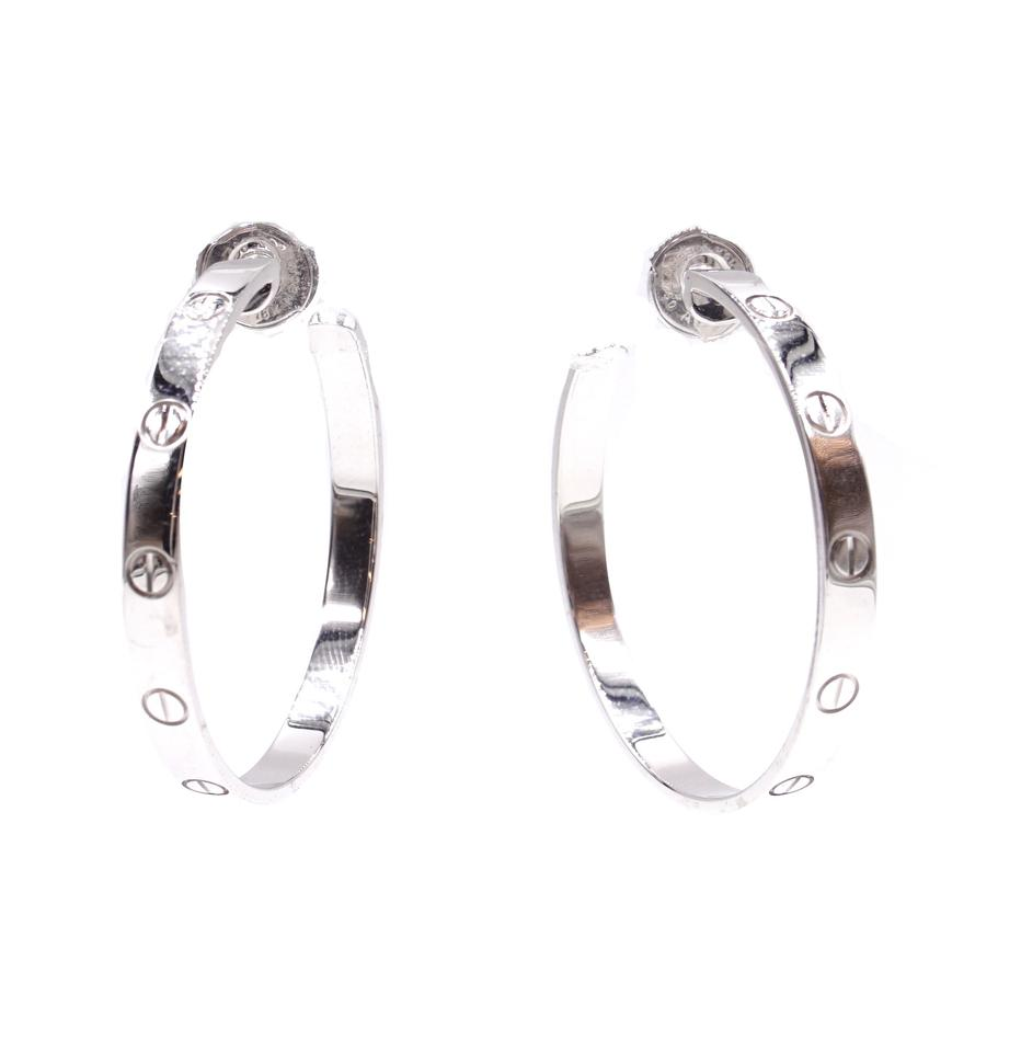 Cartier 18k 750 Love Loop Earrings