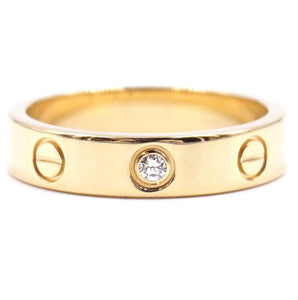 Cartier 18K 750 1P Diamond Love Size 50