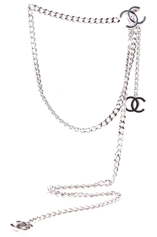 Cc Enamel Chain Long Two Way Belt Necklace