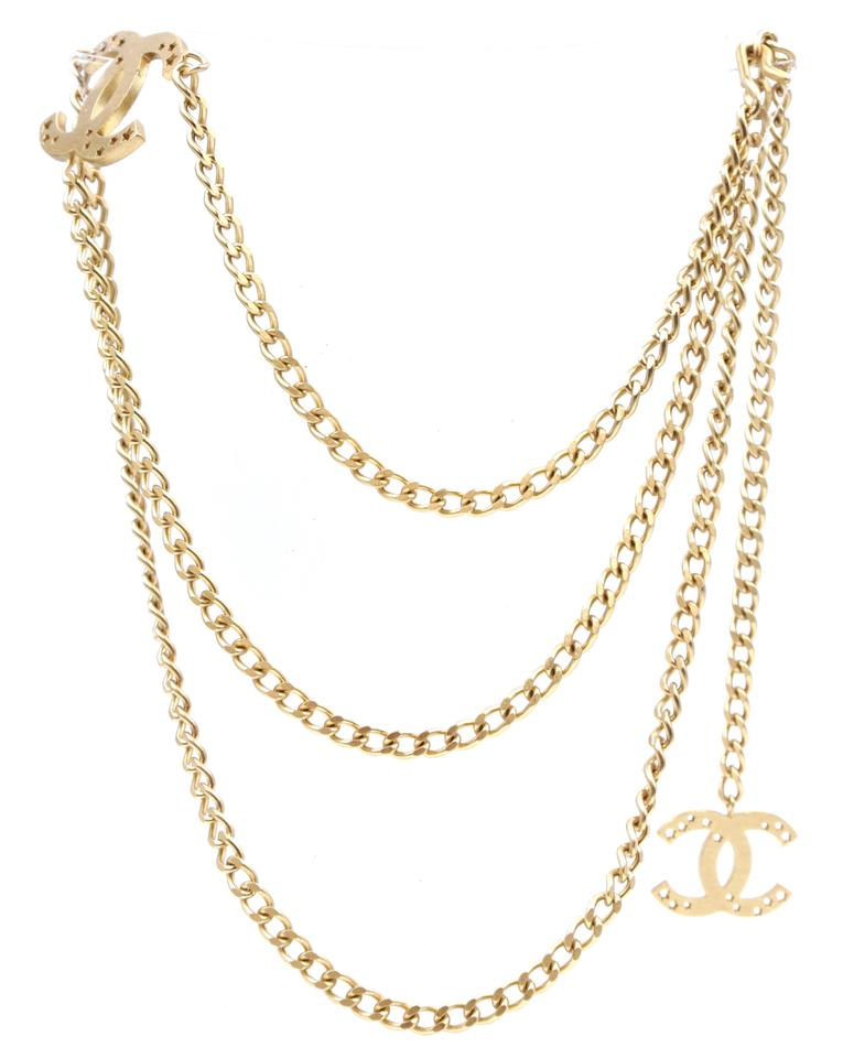 Cc Stars Cutout Chain Long Two Way Belt Necklace