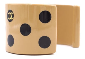 Chanel CC Wide Dots Resin Bangle