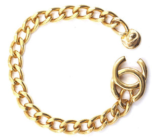 Chanel Cc Interlock Turnlock Chain Bracelet
