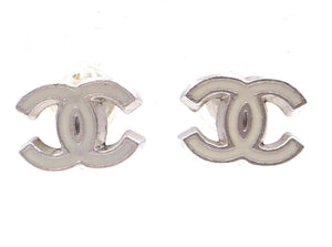 Chanel CC Enamel Hardware Earrings