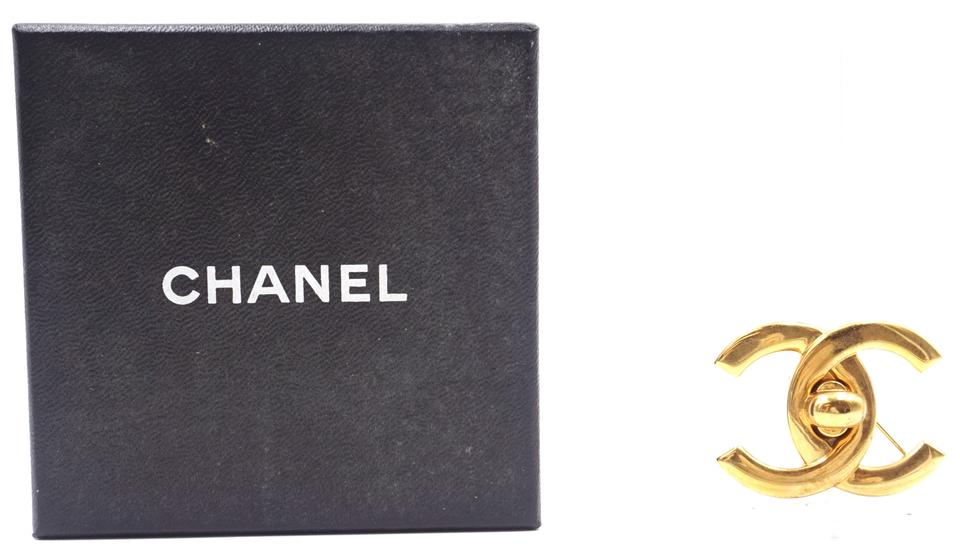 Chanel CC Interlock Hardware Brooch