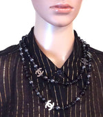 Chanel Beads Single Double Strand Necklace