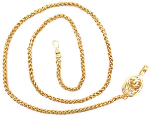 Chanel CC Cutout Two Way Belt Necklace