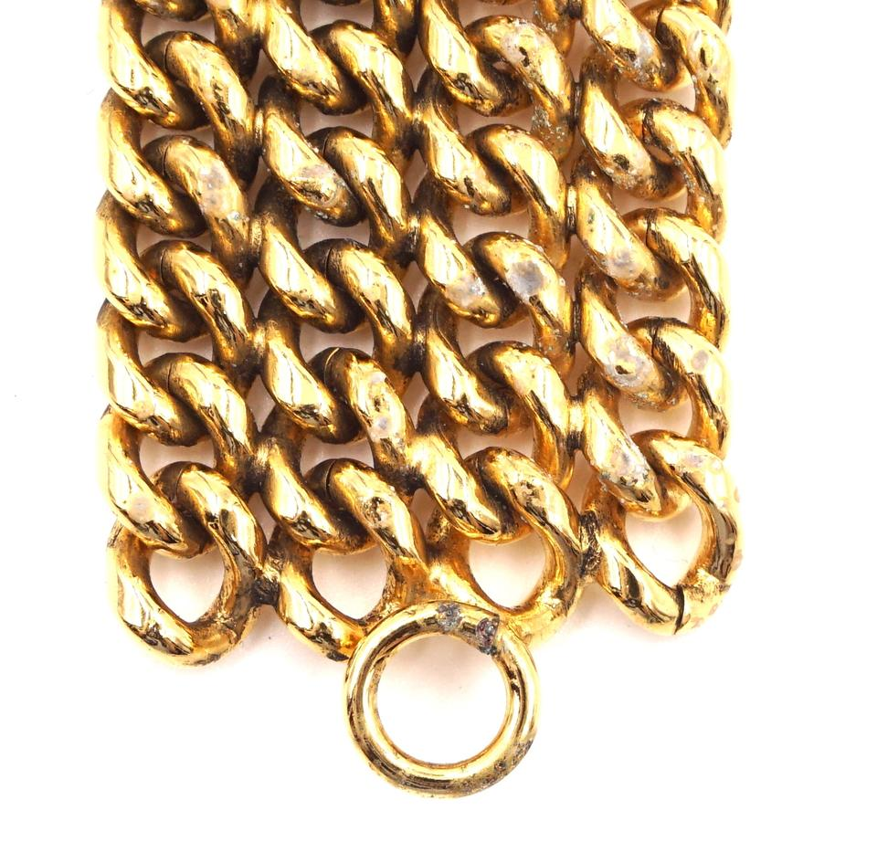 Chanel Gold Classic Diamond Chain Bracelet