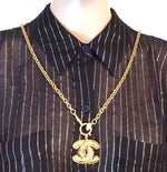 Chanel CC Medium Quilted Chain Necklace