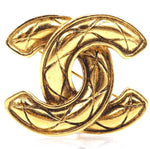 Chanel CC Quilted Hardware Brooch